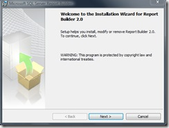 Report Builder 2.0 RTM install and overview